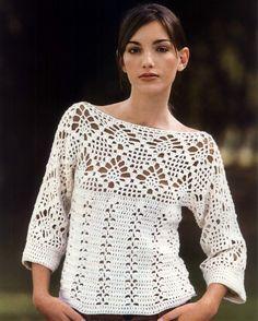 Crochet pullover, free pattern