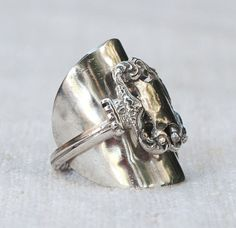 SPOON RING:  King Lancelot's Sterling Silver by HelenSilverSmit