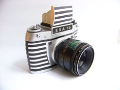 Vintage camera EXA 1b navy 35mm film by Mydd on Etsy http://minivideocam.com/product-category/camera-cases/