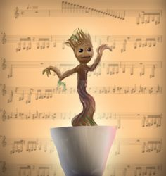Dancing Groot!!! If you have not seen Guardians of the Galaxy you need to get off the couch that you sitting on and go see it right now