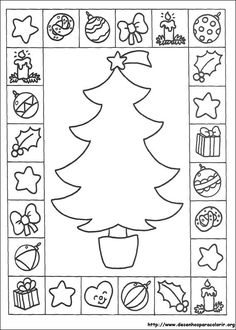A Arte de Ensinar e Aprender: Desenhos natalinos para colorir, montar atividades, capas de avaliações e trabalhos