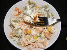 Salată de paste cu carne de pui şi maioneză Paste, Grains, Curry, Rice, Meat, Chicken, Food, Beef, Meal