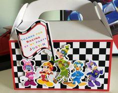 Caja del Favor de Mickey Roadster Racer Cajas de regalo de