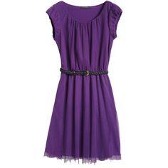 Hübsches lila Kleid mit Gürtel von Esprit 69,99 € <3 Hier kaufen: http://stylefru.it/s87166 #Mode #fashion