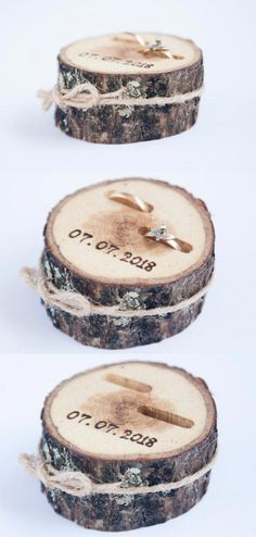 New Photo Rustic Ring Bearer Pillow, Wedding Wood Disc, Rustic Ring Box, Birch Wedding De Suggestions Are you currently searching for inexpensive wedding rings? At EFES you can find wedding rings from N Birch Wedding, Fall Wedding, Wedding Rustic, Wedding Hair, Dream Wedding, Wedding Table, Wedding Ceremony, Wedding Cakes, Wedding Stuff