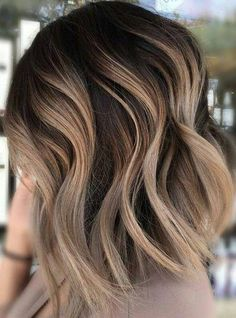 54 Cream Blonde Hair Color Ideas for Short Haircuts in Spring 2019 – Wass Sell - Top-Trends Brown Ombre Hair, Brown Hair With Highlights, Light Brown Hair, Ombre Hair Color, Dark Brown, Hair Colors, Asian Highlights, Ombre Style, Red Ombre