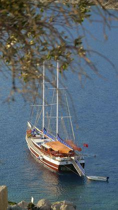 Boat In Aplotheca Bay, Turkey