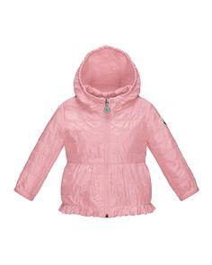 Nancy Hooded Peplum Jacket, Light Pink, Size 12 Months-3, Size: 3T - Moncler