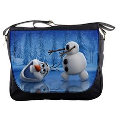 230b71fe368 Olaf Cute Snowman Frozen Animation Shoulder Messenger Bag School College Bag