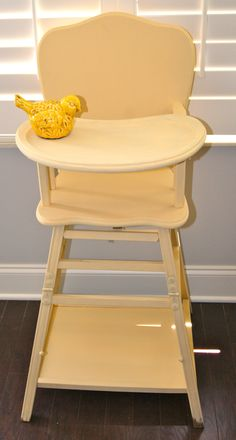 Vintage 1940's Baby Wooden High Chair 1950s vintage high