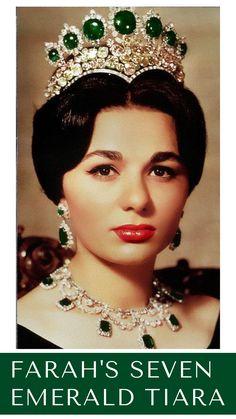 Royal Crown Jewels, Royal Crowns, Royal Tiaras, Royal Jewelry, Tiaras And Crowns, Jewellery, Farah Diba, Crown Princess Mary, Princess Crowns