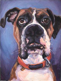 Custom Pet Portrait Painting on gallery canvas by NethieLockwood