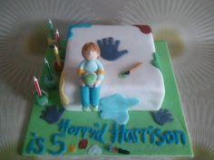 Horrid henry themed birthday cake