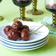 Chipotle-Barbecue Meatballs an easy, 5 ingredients recipe with cherry preserves