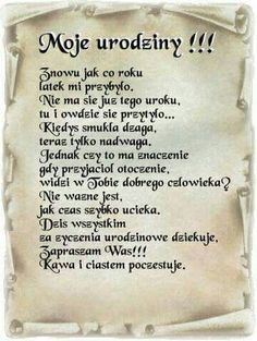 Moje urodziny podziekowanie Weekend Humor, Bday Cards, Motto, Birthday Quotes, Good To Know, Positive Quotes, Verses, Happy Birthday, Positivity