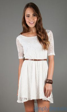 Dress, Short Casual Lace Dress - Simply Dresses