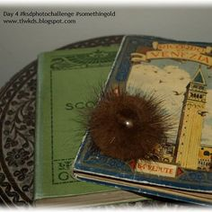 Day five #ksdphotochallenge #somethingold  The brooch belonged to my great Grandmother, the Venezia postcard book was my Grandfather's, the Blacks Scotland Guide is from 1903 & bought for me by my hubby, they are sitting on a table brought back from India by my Grandfather.