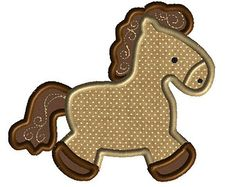 Horse Applique Design by AppliqueChick on Etsy