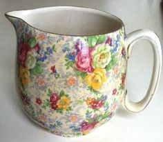 vintage rosetime chintz large jug by lord nelson time left
