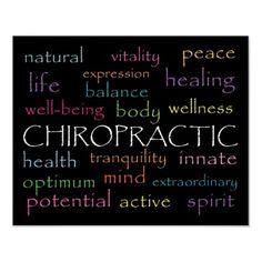inspirational chiropractic words poster