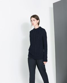 Image 2 of CABLE-KNIT SWEATER from Zara