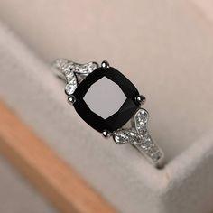 680e9c11e856 anillo de rubí sintético negro natural amortiguador corte