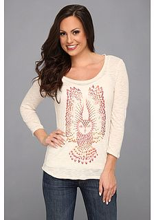 Lucky Brand Studded Owl Tee on shopstyle.com