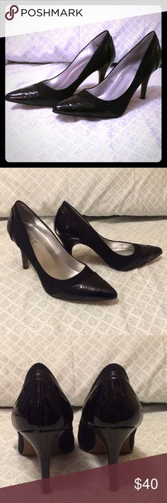 Selling this Ann Taylor Loft black leather pumps on Poshmark! My username is: lesleyy2001. #shopmycloset #poshmark #fashion #shopping #style #forsale #Ann Taylor Loft #Shoes