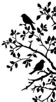 34 Ideas Tree Silhouette Art Diy Wall For 2019 Vogel Silhouette, Bird Silhouette Art, Silhouette Design, Music Silhouette, Silouette Art, Silhouette Images, Silhouette Portrait, Stencil Patterns, Stencil Designs