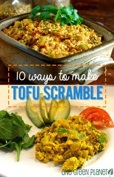 10 Ways to Make Tofu Scrambles http://onegr.pl/U3x3Ez #vegan #recipe #breakfast