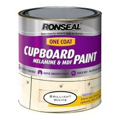 Mdf- ja melamiinimaali Ronseal One Coat 750 ml valkoinen, kiiltävä