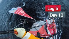 Kevin Escoffier cuts the broken part off the mast as the team enters the Beagle channel on its way to Ushuaia Yann Riou/Dongfeng Race Team/Volvo Ocean Race Volvo Ocean Race, Olympic Champion, Beagle, A Team, Cool Pictures, Sailing, Ushuaia, Channel, March
