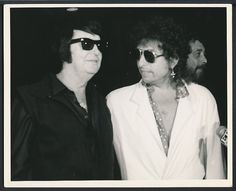 1980 s Original Photo ROY ORBISON & BOB DYLAN Legendary Artist