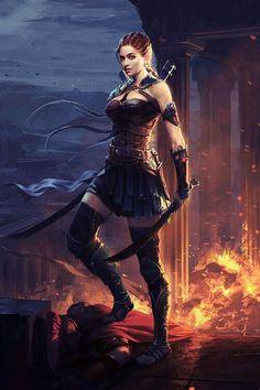 Dark Fantasy is the Best Fantasy Fantasy Warrior, Fantasy Girl, Foto Fantasy, Fantasy Kunst, Warrior Girl, Fantasy Women, Anime Warrior, Warrior Women, Anime Fantasy