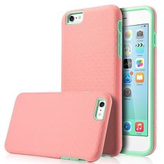iPhone-6S-Plus-Case-55-inch-ULAK-Slim-Protection-SLICK-ARMOR-Hybrid-Dual-Layer-Shockproof-Hard-Case-Cover-for-Apple-iPhone-6-Plus-2014-6s-Plus-2015-Baby-PinkMint-Green-0