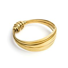 Ribbon Bangle Brass, £12, now featured on Fab.
