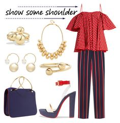 """""""Give'em that cold shoulder..."""" by ghadalog ❤ liked on Polyvore featuring Mulberry, Anna October, Christian Louboutin, Roksanda, J.W. Anderson, Witchery, David Yurman, Kate Spade and showsomeshoulder"""
