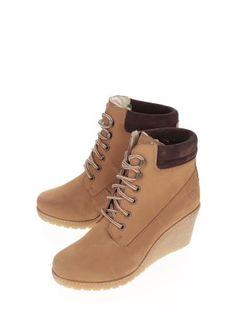 Ghete platforma ortopedica din piele intoarsa maro Wedges, Sport, Boots, Casual, Fashion, Deporte, Shearling Boots, Moda, Fashion Styles