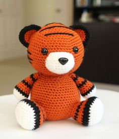 **Please note: This listing is for the pattern, NOT the actual doll!**  This chubby little tiger cub makes a cute addition to anyone's doll collection! His roly poly body makes him super cuddly and cute! Cubby sits at 7.5 inches tall. He's a shy little guy who likes to observe his surroundings before jumping into any action. He is a loyal friend and a great listener!  When made with the recommended worsted weight yarn and a G hook, this tiger sits at approximately 7.5 inches high.  Basic…