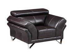 U7590 Series Agnes Walnut Leather Gel Chair