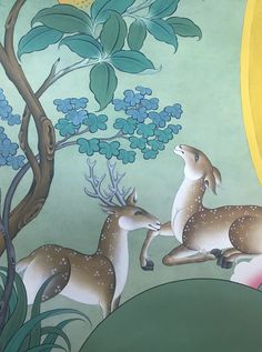 Deer detail from the by Tashi Dhargyal
