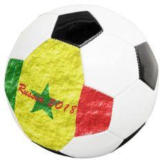 Personalized Senegal Flag Design Soccer Ball - diy cyo customize gift idea