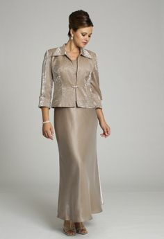 Glisten the night away in this shimmer crinkle satin dress. This mock two-piece long dress is the perfect fit for any formal occasion and it's especially great for a mother of the bride, or as a guest of wedding dress! Create two distinct looks with the three quarter sleeve jacket compete with simple beading