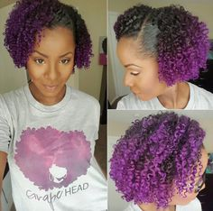Beautiful purple curls! @krates1913 - Black Hair Information Community