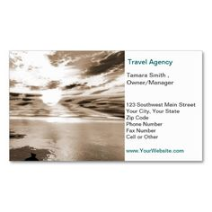Travel Agency Business Card Template   Zazzle