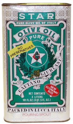 Vintage STAR Olive Oil Tin