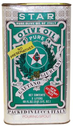 Vintage STAR Olive Oil Tin