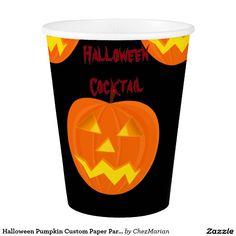 Halloween Pumpkin Custom Paper Party Cups