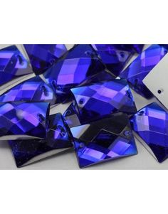 18x13mm Blue Sapphire CH09 Rectangular Flat Back Sew On Gems For Craft - 45 Pieces 4.57 need three bags