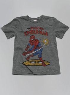 Kids Boys Spiderman Tee -steel-l